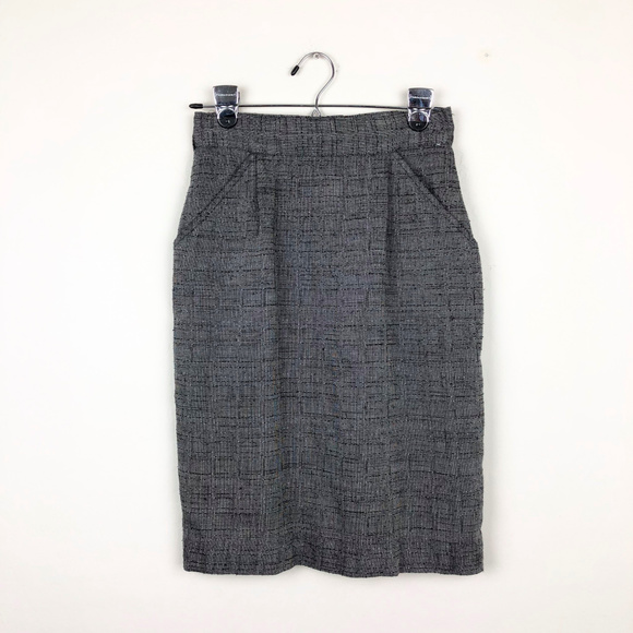 Adams Apple Dresses & Skirts - Adams Apple Gray Vintage Pencil Skirt